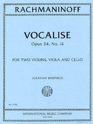 Vocalise, opus 34 n° 14 - Quatuor à Cordes - laflutedepan.com