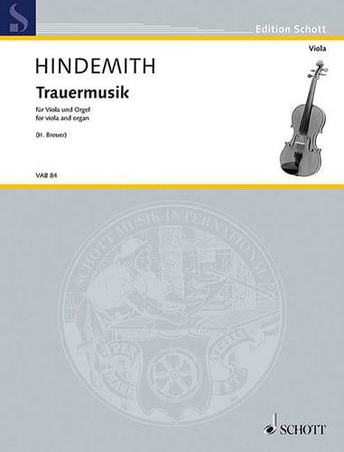Paul Hindemith - Trauermusik - viola y órgano - Partition - di-arezzo.es