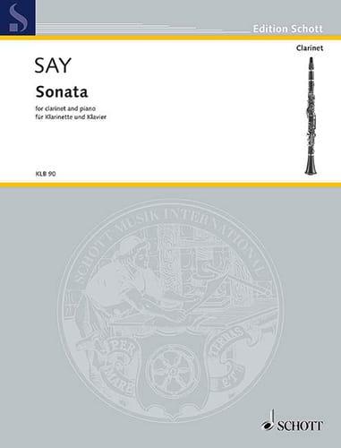 Sonata - Fazil Say - Partition - Clarinette - laflutedepan.com