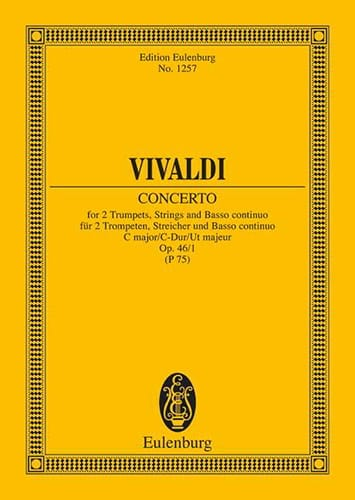 VIVALDI - Konzert C-Dur, Op. 46 No. 1 - 2 Trumpets, Strings and BC - Partition - di-arezzo.com