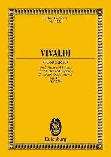 Konzert C-Dur - VIVALDI - Partition - Petit format - laflutedepan.com