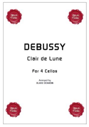 Clair de Lune for 4 cellos - DEBUSSY - Partition - laflutedepan.com