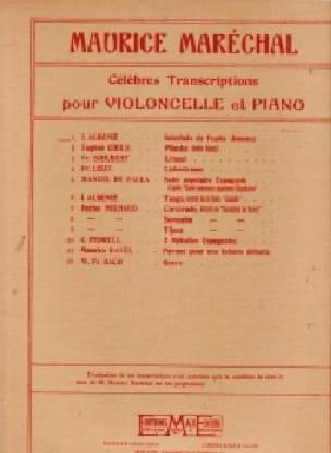 Isaac Albeniz - Interlude by Pepita Jimenez - Piano Cello - Partition - di-arezzo.co.uk