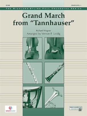 Grand March Tannhauser - score & parts - WAGNER - laflutedepan.com
