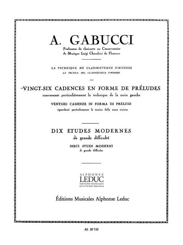 26 Cadences en forme de préludes - Agostino Gabucci - laflutedepan.com
