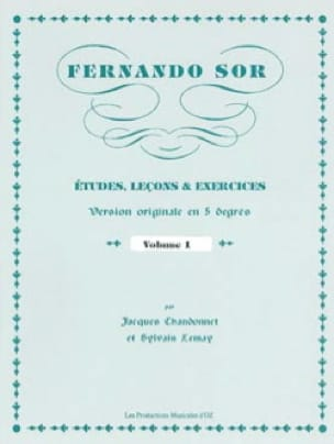 Fernando Sor - Studies, Lessons - Exercises - Partition - di-arezzo.co.uk