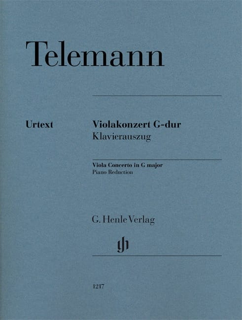 TELEMANN - Viola Concerto in G Major - Viola and Piano - Partition - di-arezzo.co.uk