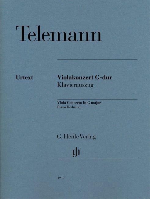 TELEMANN - Concierto para viola en sol mayor - Viola y piano - Partition - di-arezzo.es