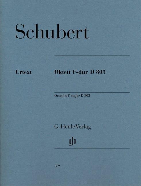 SCHUBERT - Octeto en Fa Mayor D. 803 Op. Posth 166 - Piezas - Partition - di-arezzo.es