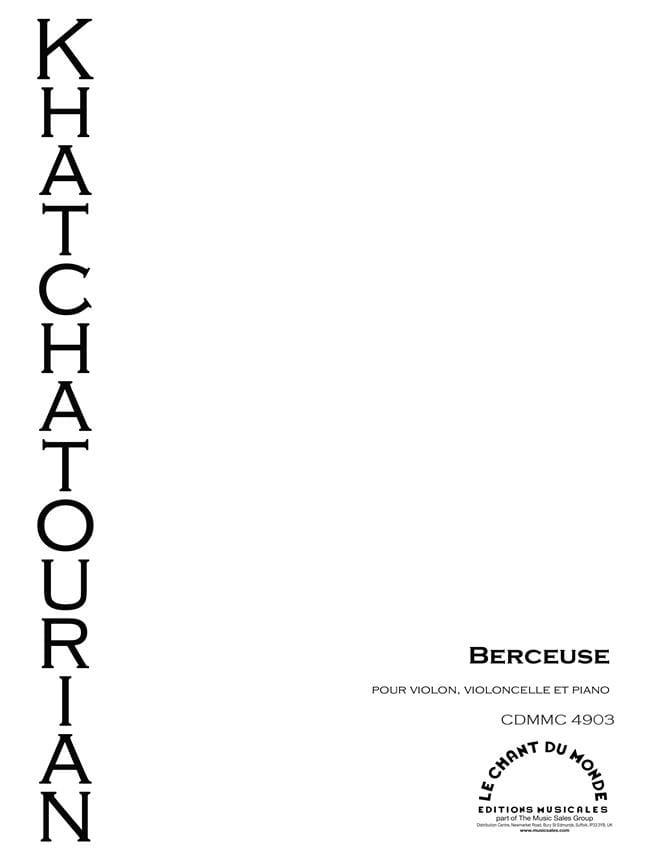 Berceuse - Violon, Violoncelle et piano - laflutedepan.com