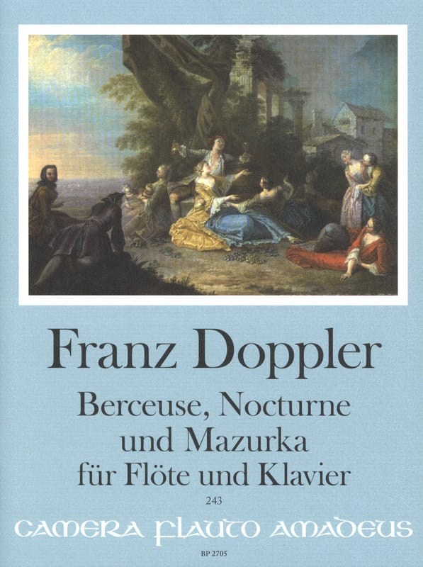 Franz Doppler - Lullaby, Nocturne and Mazurka - Flute and piano - Partition - di-arezzo.com