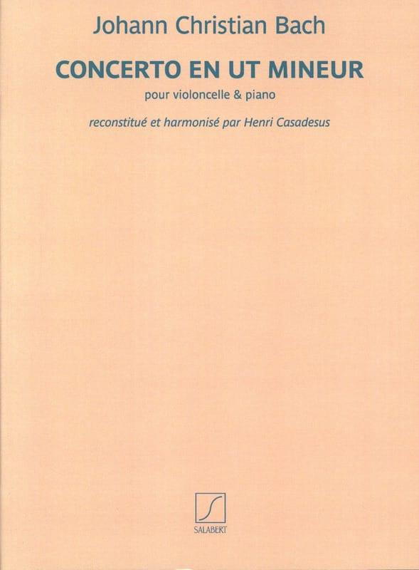 Johann Christian Bach - Concerto in C minor - Cello and Piano - Partition - di-arezzo.co.uk