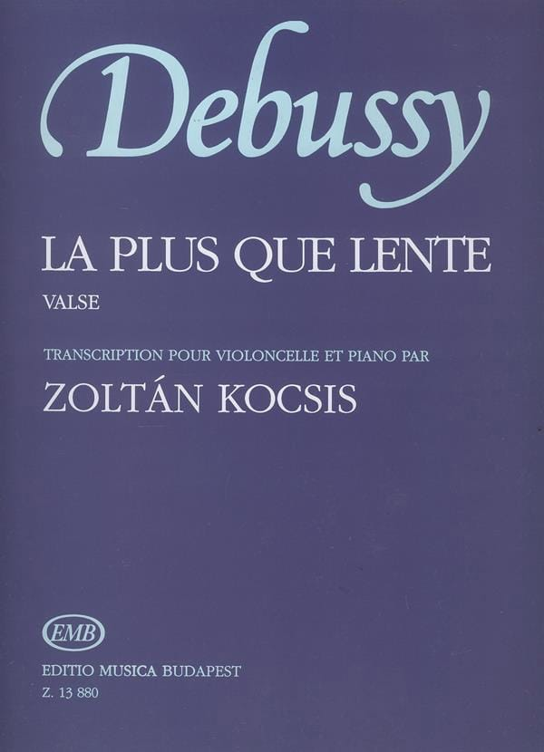 DEBUSSY - The more than slow - Cello and piano - Partition - di-arezzo.co.uk