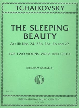 TCHAIKOVSKY - The Sleeping Beauty, act 3 - String Quartet - Partition - di-arezzo.co.uk