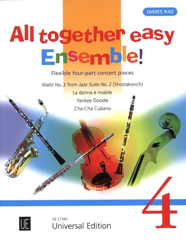 All together easy Ensemble! - Volume 4 - James Rae - laflutedepan.com