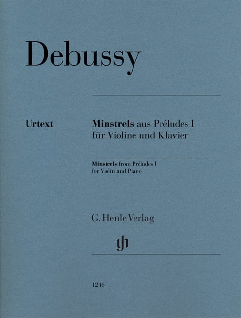 DEBUSSY - Minstrels of Preludes Book 1 - Violin and Piano - Partition - di-arezzo.co.uk