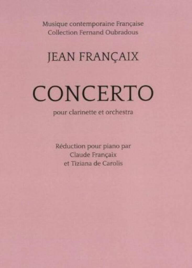 Concerto pour clarinette - Clarinette et piano - laflutedepan.com