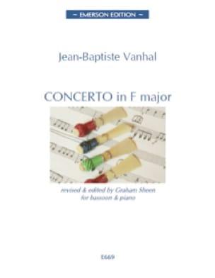 Johann Baptist Vanhal - Concerto en Fa Majeur - Partition - di-arezzo.fr