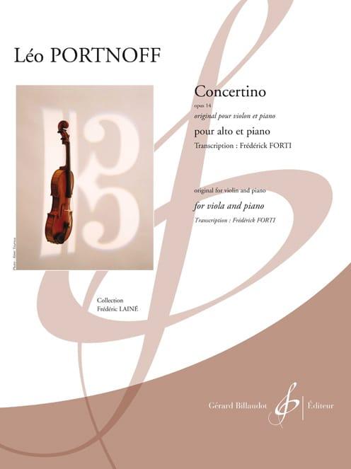 Leo Portnoff - Concertino, opus 14 - Alto et piano - Partition - di-arezzo.ch