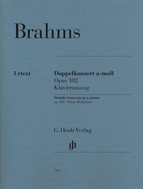 BRAHMS - Double Concerto, Opus 102 - Violin, Cello and Piano - Partition - di-arezzo.co.uk