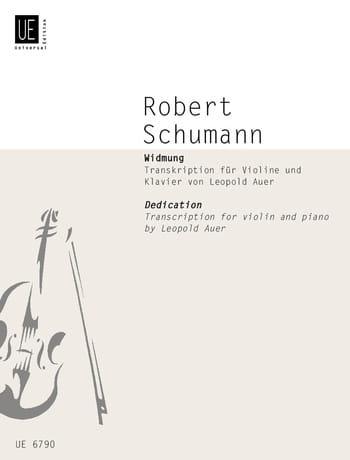 Widmung - Violon et piano - SCHUMANN - Partition - laflutedepan.com