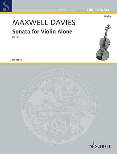 Sonata for Violin alone - Davies Peter Maxwell - laflutedepan.com