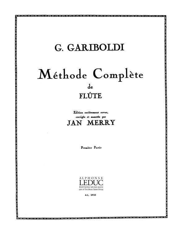 Méthode de Flûte - Volume 1 - GARIBOLDI - Partition - laflutedepan.com