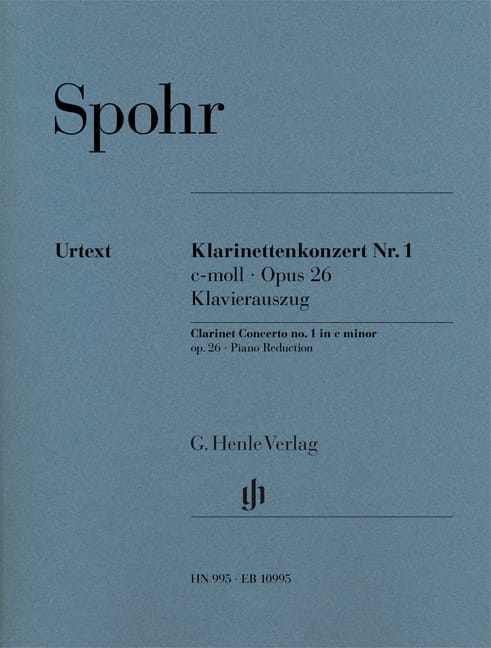 Louis Spohr - Clarinet Concerto No. 1, Op. 26 - Clarinet and Piano - Partition - di-arezzo.co.uk