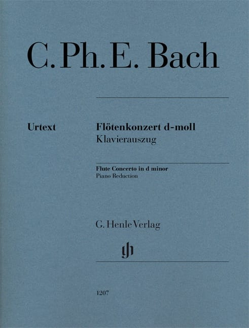 Carl Philipp Emanuel Bach - Concerto for Flute in D minor - Flute and piano - Partition - di-arezzo.com