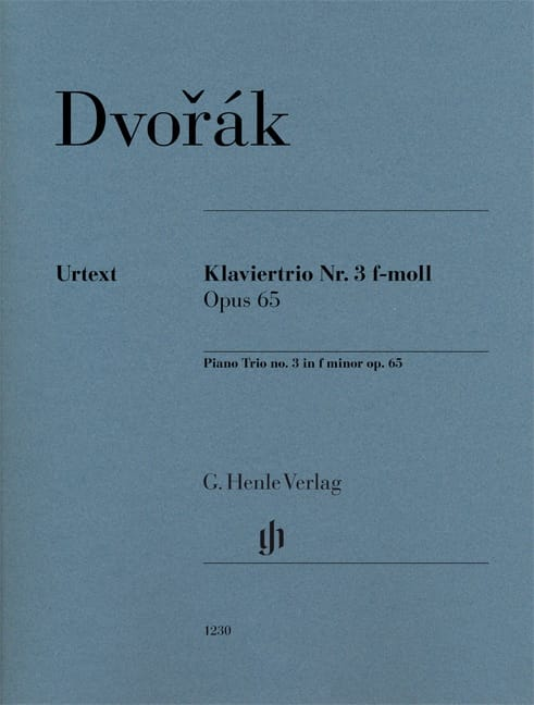 DVORAK - Trio avec piano n° 3, op. 65 - Parties + Conducteur - Partition - di-arezzo.fr