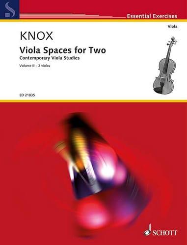 Garth Knox - Viola Spaces for two - Vol. 2 - 2 violas - Partition - di-arezzo.co.uk