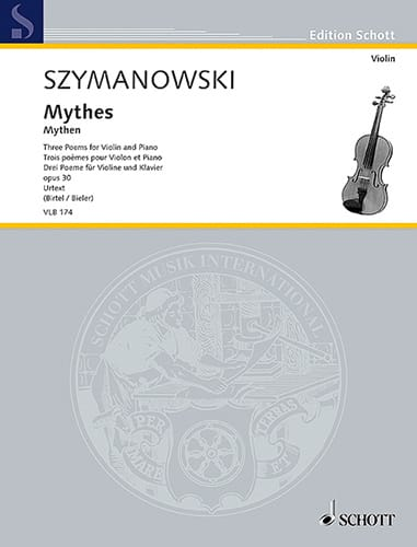 Karol Szymanowski - Myths, 3 poems - Violin and piano - Partition - di-arezzo.co.uk