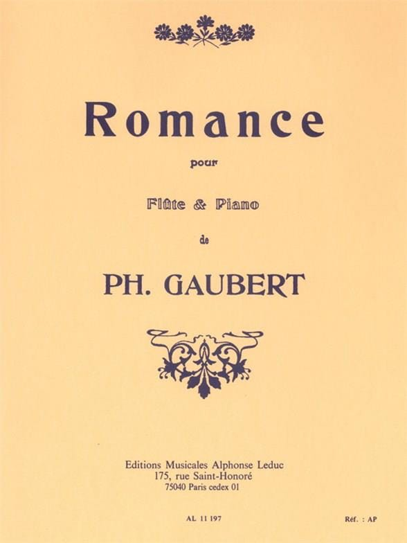Philippe Gaubert - Romance - Partition - di-arezzo.com