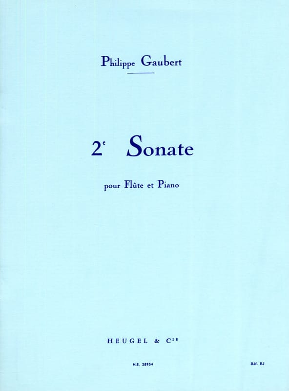 Philippe Gaubert - Sonata n ° 2 - Flute and piano - Partition - di-arezzo.com