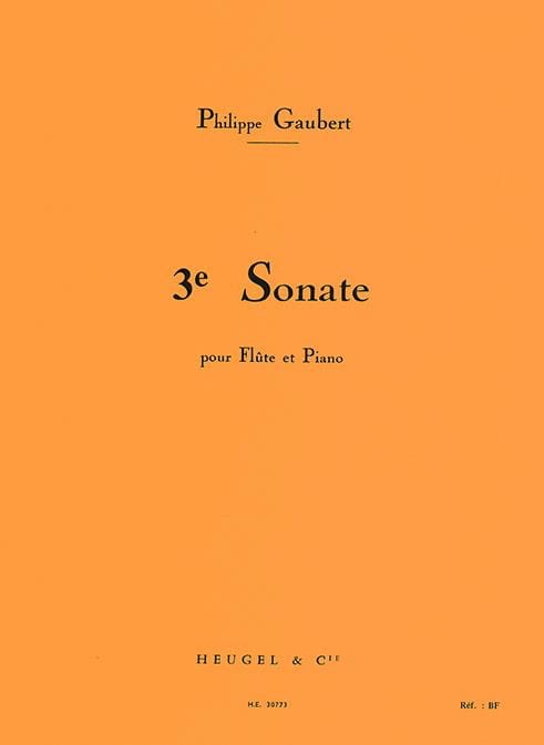 Philippe Gaubert - Sonata n ° 3 - Flute and piano - Partition - di-arezzo.com