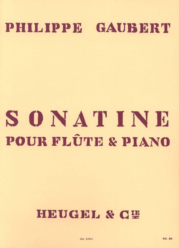 Philippe Gaubert - Sonatine - Partition - di-arezzo.co.uk