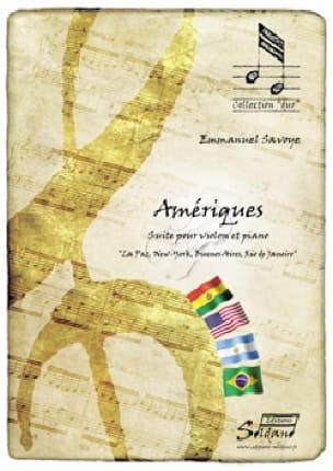 Amériques - Emmanuel Savoye - Partition - Violon - laflutedepan.com