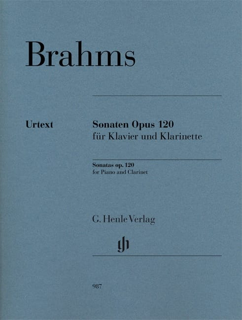 BRAHMS - Sonates Opus 120 - Clarinet and Piano - Partition - di-arezzo.com