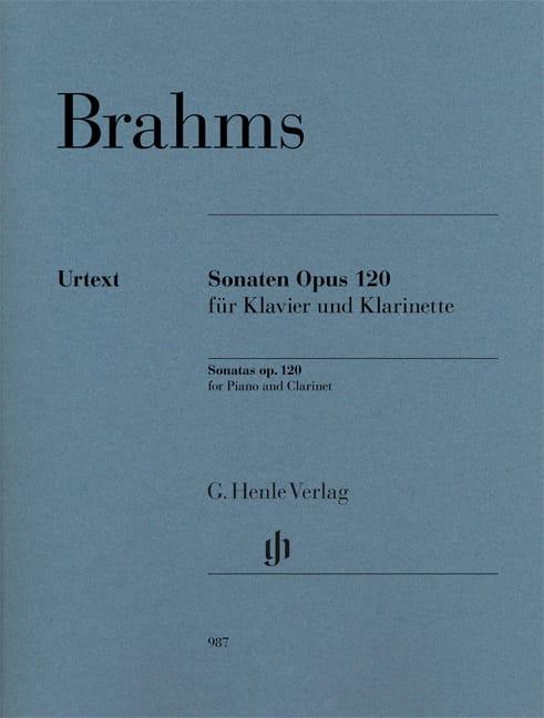 BRAHMS - Sonates Opus 120 - Clarinete y piano - Partition - di-arezzo.es