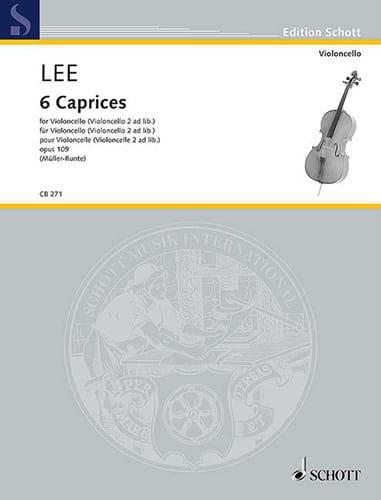 6 Caprices, opus 109 - Violoncelle - Sebastian Lee - laflutedepan.com