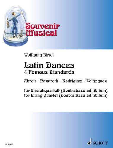 Latin Dances - 4 Famous standards - Quatuor à cordes - laflutedepan.com