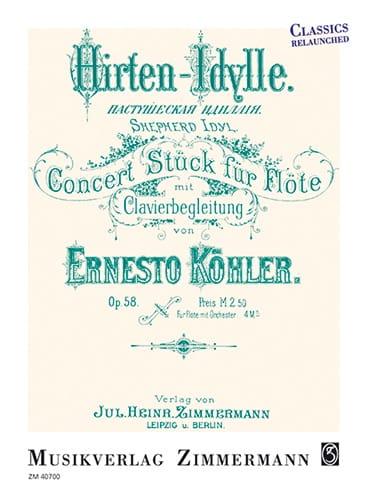 Hirten-Idylle, op. 58 - Flûte et piano - laflutedepan.com