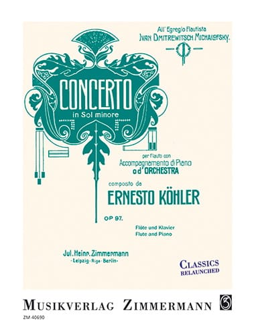Ernesto KÖHLER - Concerto in G minor, op. 97 - Flute and piano - Partition - di-arezzo.co.uk