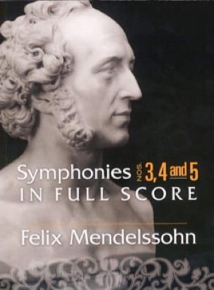 MENDELSSOHN - Symphonies n° 3, 4 et 5 - Conducteur - Partition - di-arezzo.fr