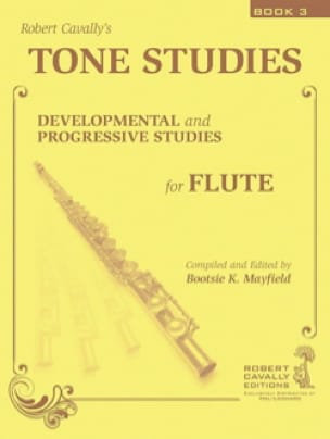 Tone Studies, Vol. 3 - Robert Cavally - Partition - laflutedepan.com
