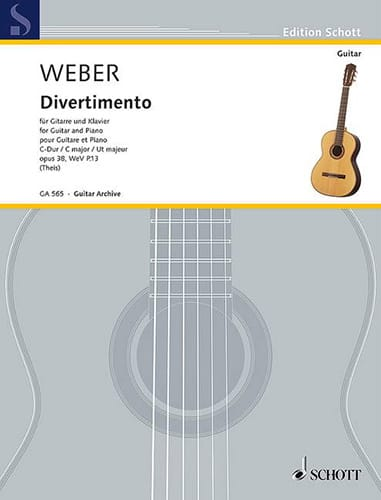 Divertimento, op. 38 - Guitare et piano - laflutedepan.com