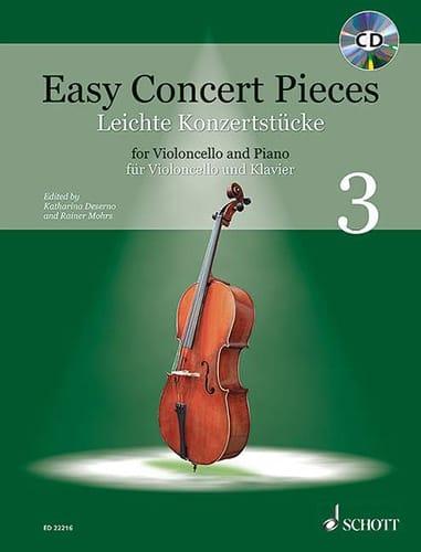 Easy Concert Pieces Volume 3 - Violoncelle et piano - laflutedepan.com