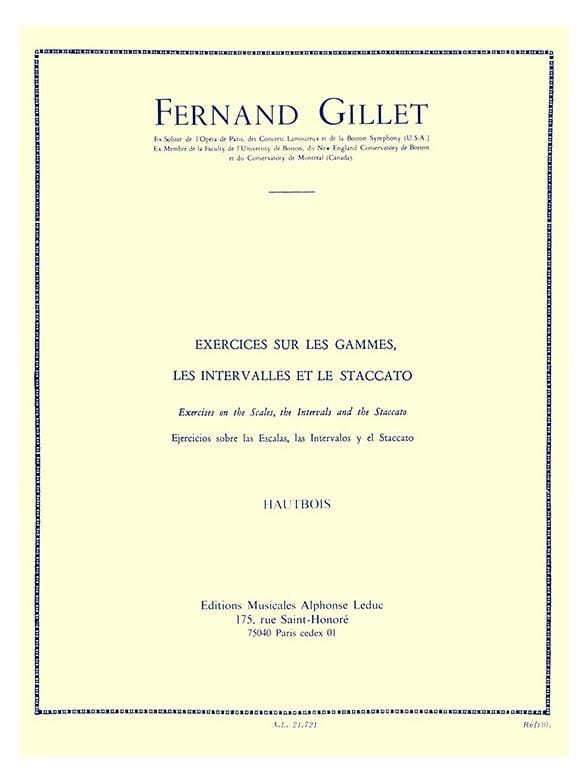 Fernand Gillet - Exercises on the ranges Oboe - Partition - di-arezzo.co.uk