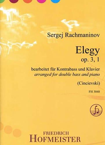 Elegy, op. 3 n° 1 - Contrebasse et piano - laflutedepan.com