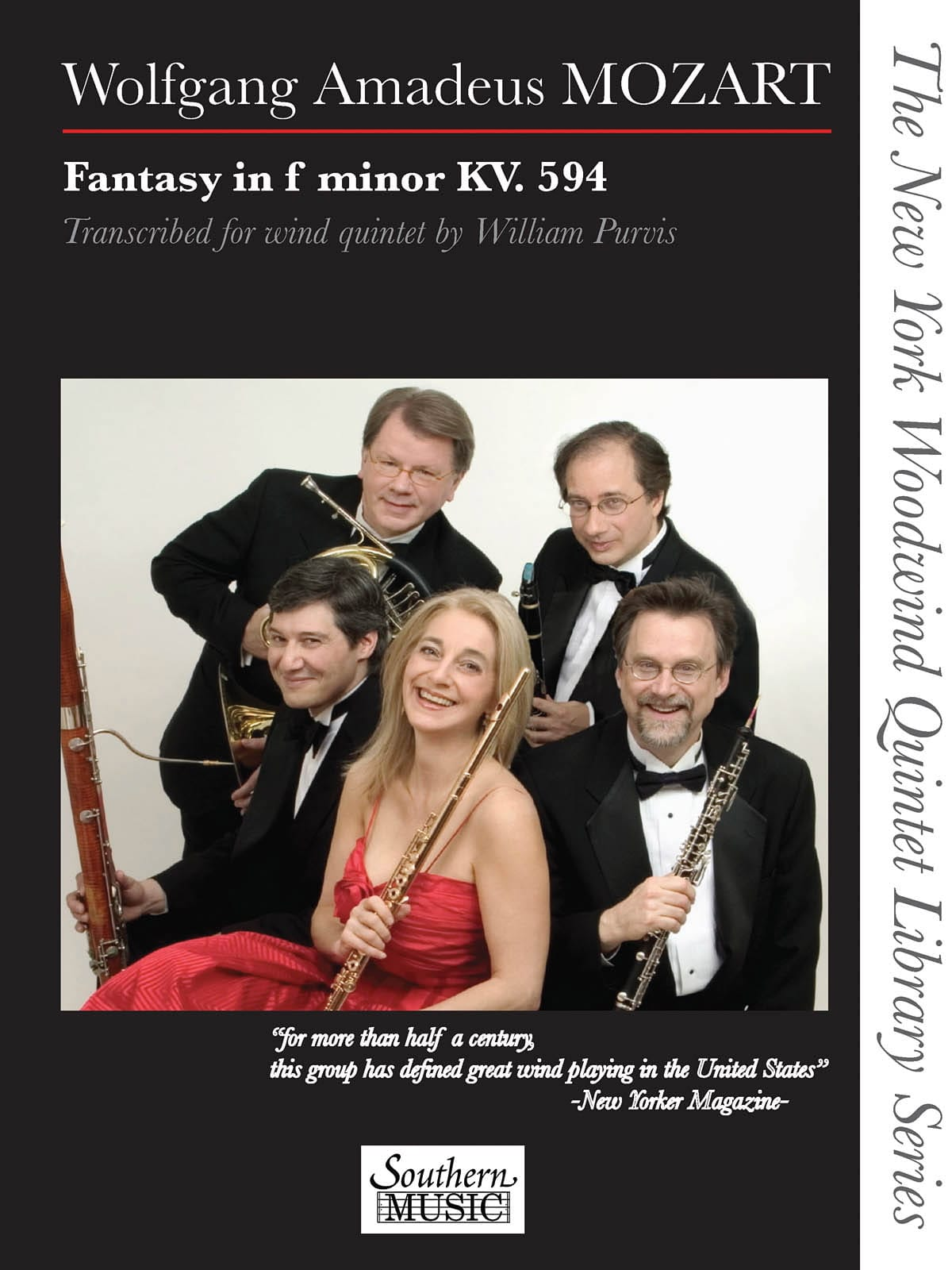 MOZART - Fantasy in F minor, KV 594 - Woodwind quintet - Partition - di-arezzo.co.uk
